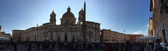 Piazza del Popolo, Roma, panoramica